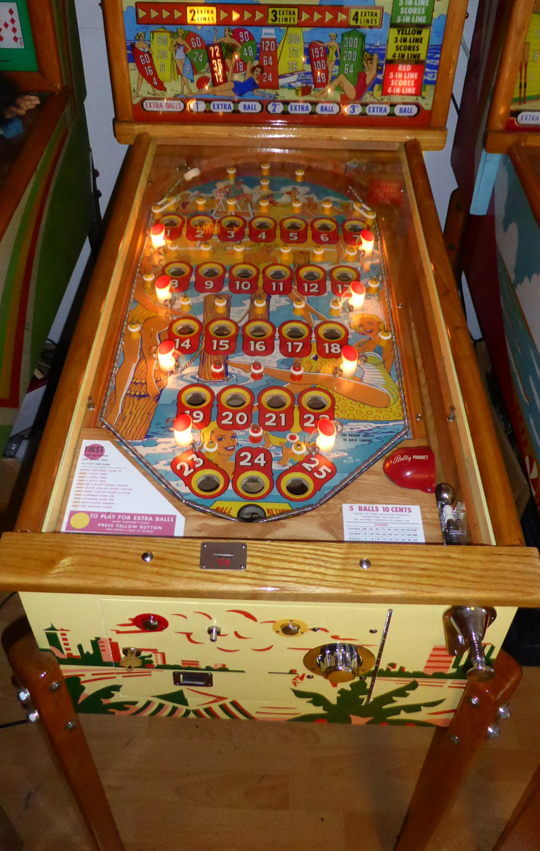 Bally Bingo Miami Beach Pinball